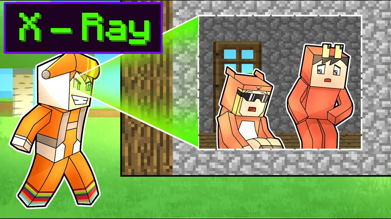 I use X-RAY to TROLL my friends in minecraft HIDE AND SEEK