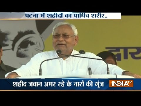 Is CM Nitish too busy to pay tribute to Sukma Martyrs?