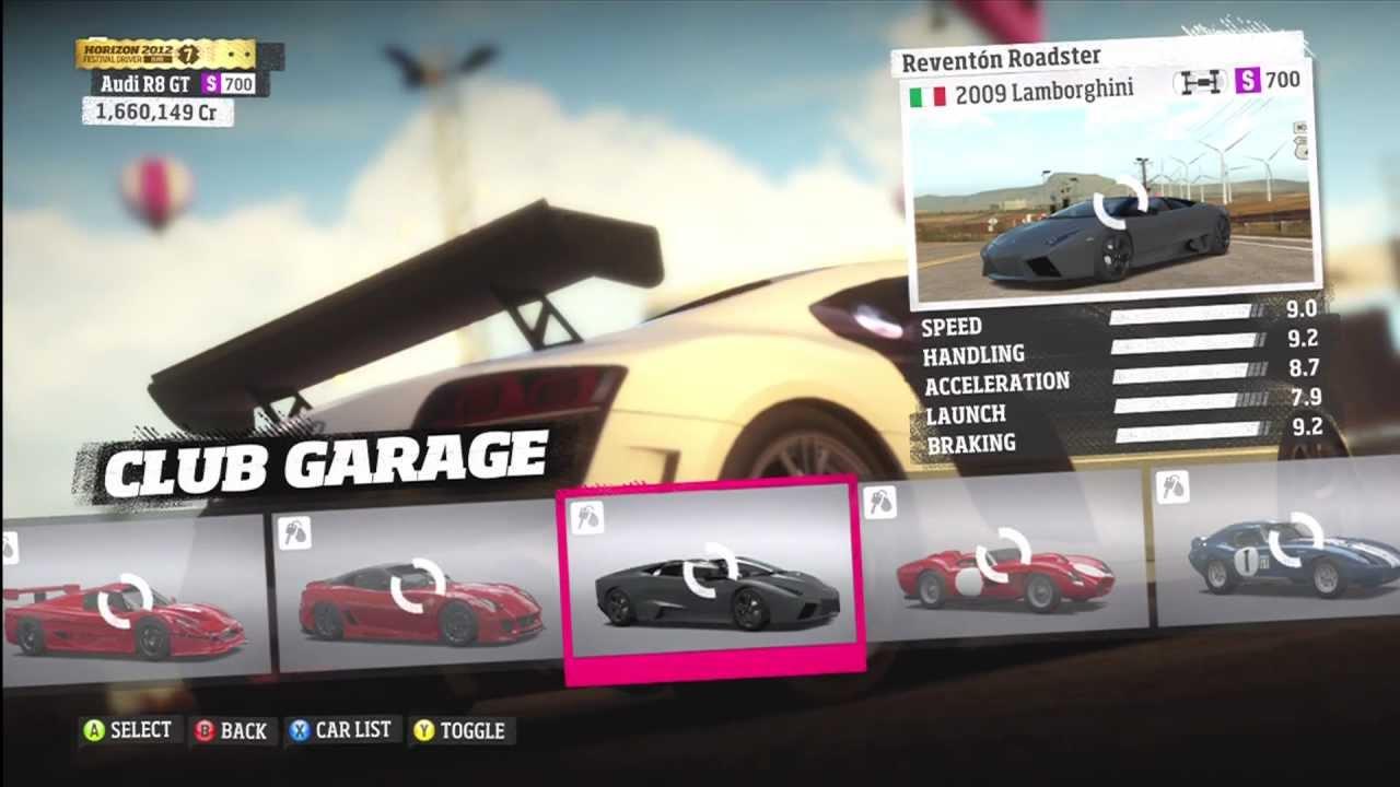 Forza Horizon Car Game