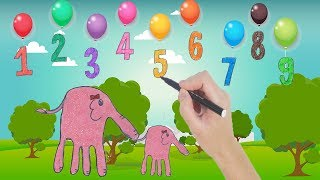 Учим цифры на английском для детей   научиться рисовать видео