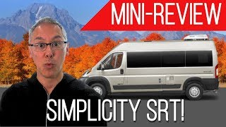 Mini-Review | Roadtrek Simplicity SRT | A Permanent Bed in a 19 Foot Camper Van!