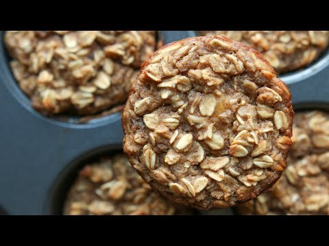 Banana Oatmeal Breakfast Muffins Recipe HEALTHY, EASY, & GREAT FOR MEAL PREP