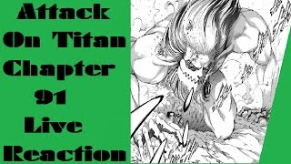 Attack On Titan Chapter 91 Live Reaction | Mainland Battle!