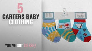 Top 10 Carters Baby Clothing [2018]: Baby Grow Carters 3 Pair Cotton Anti Skid Baby Socks 0-12