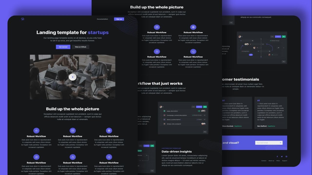 Responsive website using Html Css Bootstrap