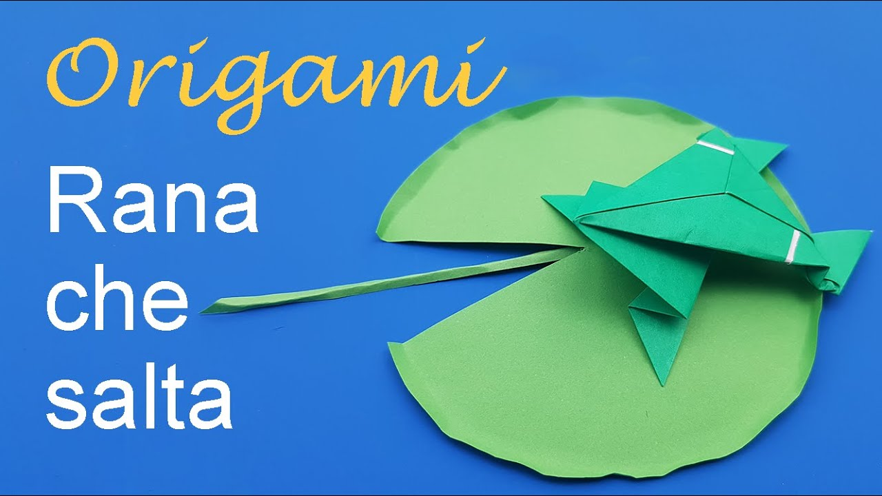 Origami rana che salta facile youtube - Video d origami facile ...