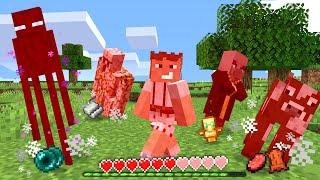 Paso Minecraft pero Si Tomo Daño Todos los Mobs a mi Alrededor Mueren