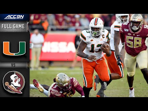 Miami vs. Florida State Full Game | 2019 ACC Football