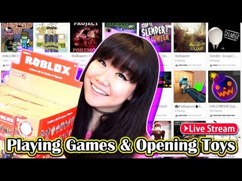 Roblox LIVE STREAM - Playing Games & Unboxing Blind Boxes!!