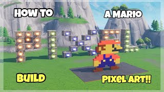 How To Build A Mario Pixel Art In Fortnite (Pixel Art Episode 1)