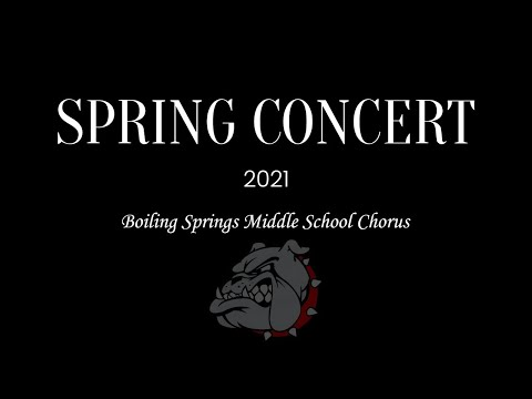 Boiling Springs Middle School Spring Chorus Concert