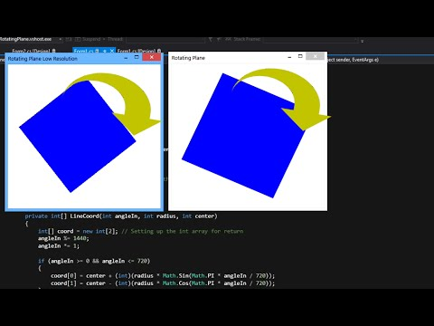 Rotating Rectangle ( Plane ) in 2D -- C#