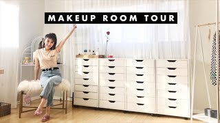 MAKEUP COLLECTION ROOM TOUR! | IAMKARENO