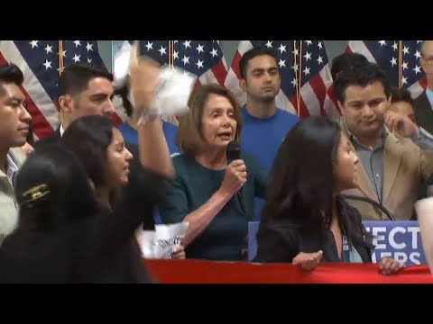Nancy Pelosi Shouted Down By Illegal Immigrants