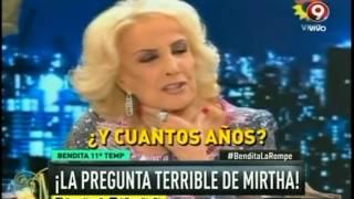 ¡La pregunta terrible de Mirtha!
