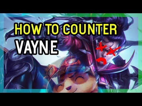 HOW TO COUNTER VAYNE - SEASON 9 SUPPORT TEEMO - League of Legends
