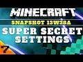 Como desactivar y activar los Super Secret Settings en Minecraft