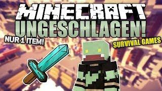 NUR 1 ITEM! - Minecraft UNGESCHLAGEN #25 - Survival Games | ungespielt
