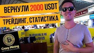 Крипто трейдинг | Трейдинг криптовалют: наша статистика за 11 дней. Биржа BINANCE вернула 2000 USDT.