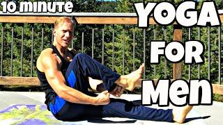 10 min Yoga for Men Core Workout for Abs | Sean Vigue