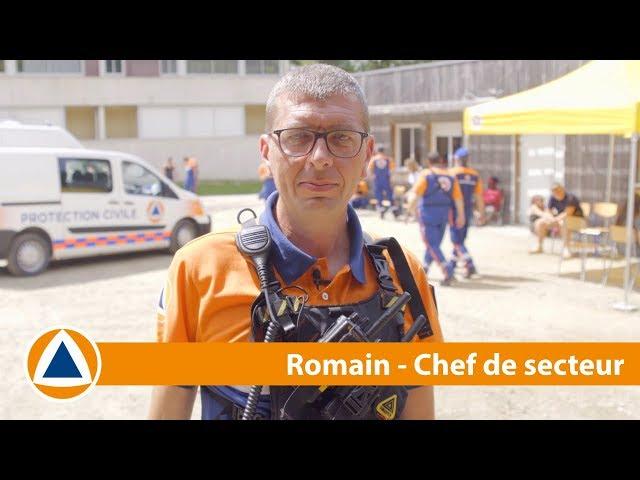 #NosMissions - Romain est chef de secteur à la Protection Civile