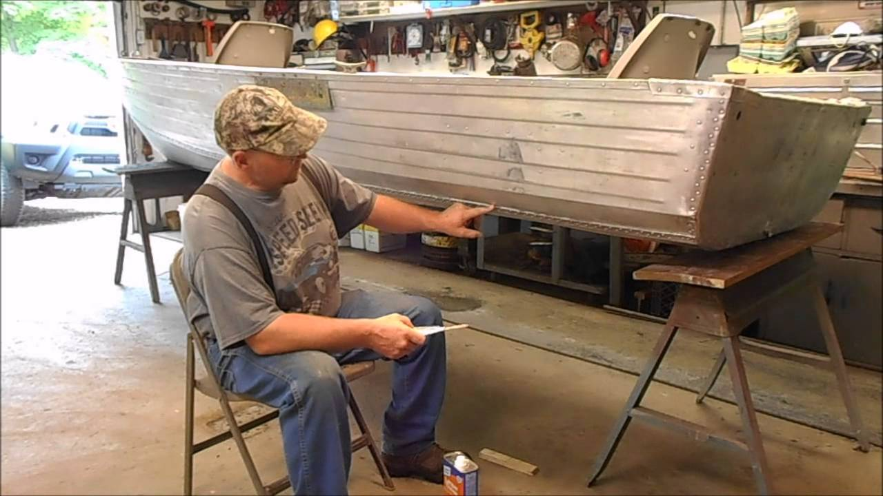 Aluminum Boat Repair Jb Weld Youtube