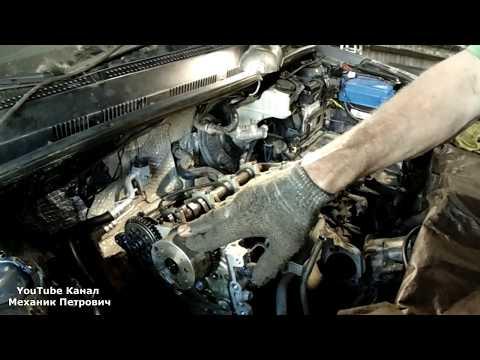 Hyundai Solaris загнуло клапан перескочила цепь замена ДВС Авторемонт