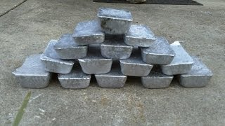 Smelting Lead Wheel Weights Into Bars / Ingots