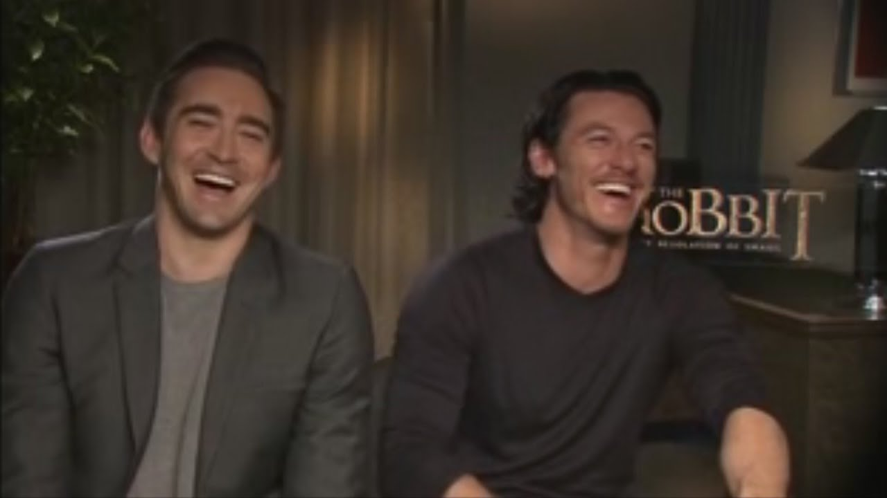 luke evans amp lee pace introduce the hobbit desolation of