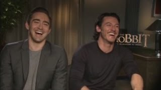 Luke Evans & Lee Pace introduce The Hobbit - Desolation of Smaug Trailer (HD)