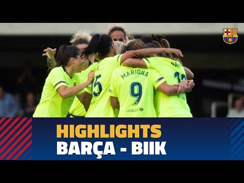 [HIGHLIGHTS] WCL: FC Barcelona - BIIK Kazygurt (3-0)