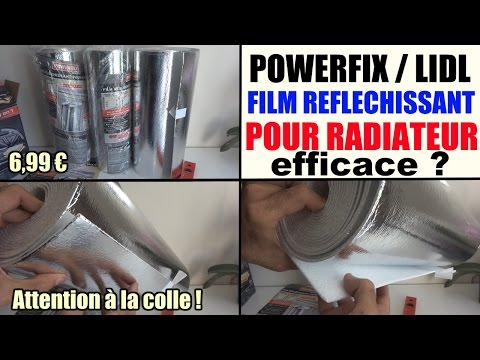 film réfléchissant pour radiateur powerfix lidl - économie d'energie