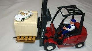 Cool Forklift Truck Surprise Box Super Fast White Porsche Sports Car Porsche-Sportwagen,포르쉐 스포츠카