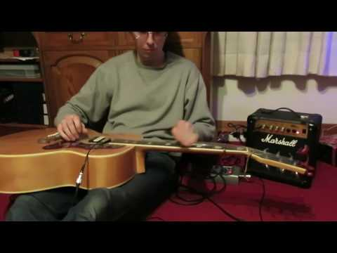 Wayfaring Stranger - slide guitar open D minor tuning