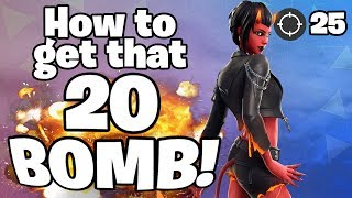 [Fortnite] How to get a 20 Bomb! w/ Japanese streamer Tonbo of 4RaiF