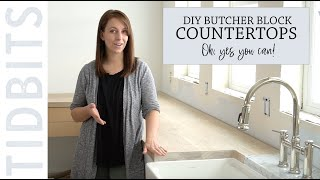 DIY Butcher Block Countertops - Oh, yes you can!