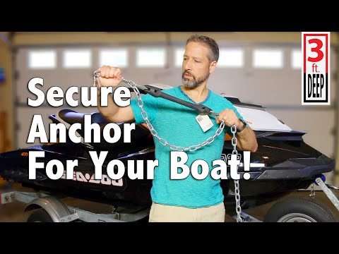 Security Anchor For Your Personal Water Craft - YouTube