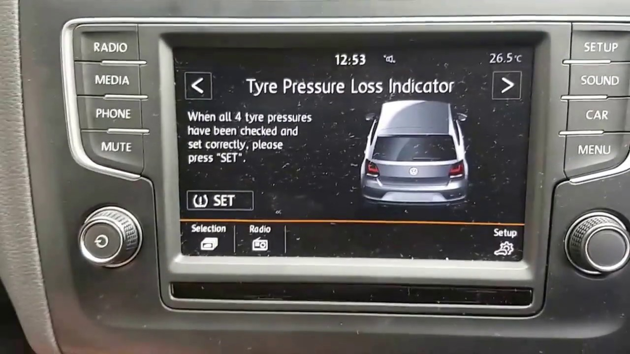 Check Tire Pressure >> How to reset tyre pressure light - VW Polo - YouTube