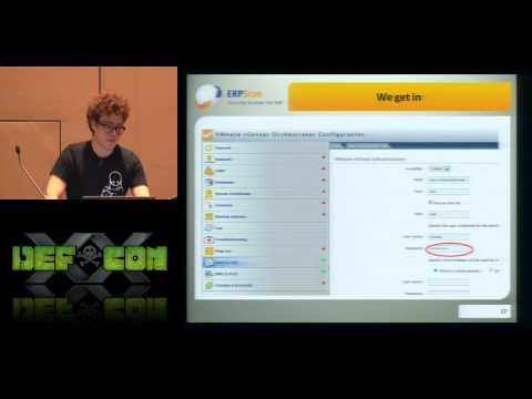 DEF CON 20 - Alexander Minozhenko - How to Hack VMware vCenter Server in 60 Seconds