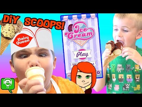 ICE CREAM Gaming App with DIY DAIRY QUEEN Cones by HobbyKidsGaming