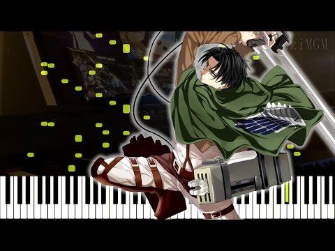 """[Attack On Titan Season 2 OP] 進撃の巨人 - """"Shinzou Wo Sasageyo!"""" (Synthesia Piano Tutorial - Live Cover)"""