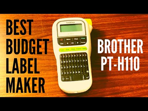 Brother P-Touch PT-H110 Label Maker: Unboxing and Review (2019)