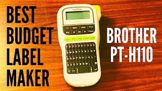 Brother P-Touch PT-H110 Label Maker: UNBOXING, REVIEW, AND HOW TO SET IT UP