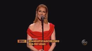 Celine Dion - Recovering (Live on Stand Up To Cancer, September 9th 2016)