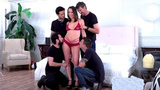 Jade Nile's first Gangbang