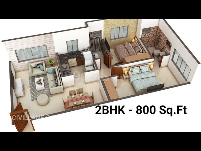 800 sq ft house interior design