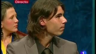 Rafa Nadal recibe el premio Prínicipe de Asturias del deporte 2008