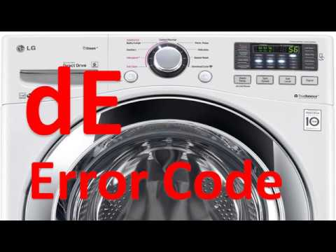 dE Error Code SOLVED!!! LG Front Loading Washer Washing Machine