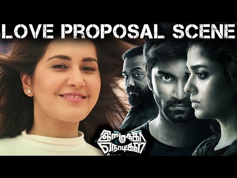 Imaikka Nodigal Movie Scene - Love Proposal Scene | Atharva | Rashi Khanna