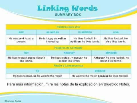 Gramática Inglés: Conectores Básicos - YouTube